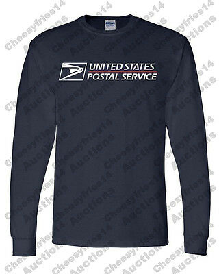 USPS POSTAL long Sleeve Heavy Duty TShirt USPS LOGO Sizes S-3XL