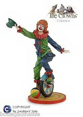 CLOWN LES ALPES - CLOWN CON BICI E CAPPELLO h.27,50cm - 001 12009 Pagliaccio