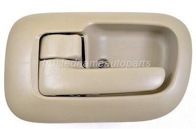 Beige Tan Inside Door Handle and Trim Set Left Front Driver 1998 to 2003 Sienna
