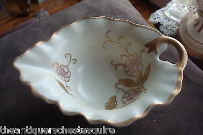 Arnart Japan nut bowl in the shape of a leaf, beautiful flower decorations[4-12]