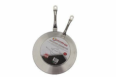 CONCORD Stainless Steel Induction Cooktop Converter Disk Plate Set of 2