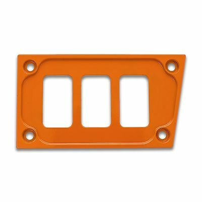 Orange Lower Left Side Switch Dash Panel Polaris RZR XP1000 XP1K Custom Upgrade