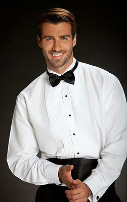 Wing Collar Tuxedo Shirt with 1/4 Inch Pleats