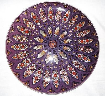 Pilgrim Glass Silhouette Server Round Charger Plate Stained Glass West Virginia
