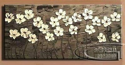 Modern Abstract Art Oil Painting Wall Deco canvas -Flowers (NO Framed)