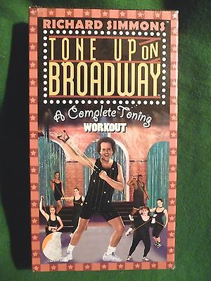 Richard Simmons Tone Up on Broadway A Complete Toning Workout VHS Tape New