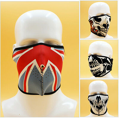 Full Function Ski Motorcycle Biker Scarf Skull Face Mask Snood Bandana Bike UK