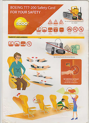Safetycard SCOOT, low-cost airline of Singapore Airlines, BOEING777-200,REV1 `13