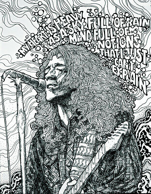 RORY GALLAGHER psychedelic print  23x16 By Jim FitzPatrick