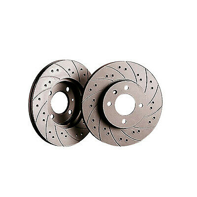 Black Diamond Front Combi Grooved / Drilled Brake Discs  - KBD210