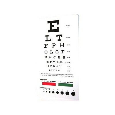 2 pack - 2 Medical Snellen Pocket Eye Exam Test Charts Free shipping