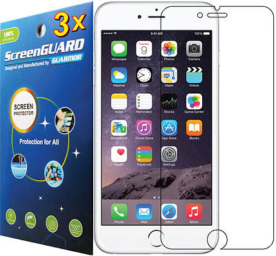 3x Clear LCD Screen Protector Guard Shield Cover Skin Film Apple iPhone 6 4.7""