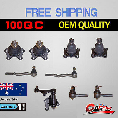 9 Ball Joints + Tie Rod Ends + Idler Arm Toyota Hilux IFS 4WD Hilux 1989-2005