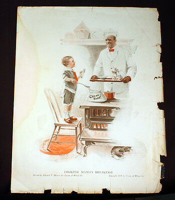 Antique Cream Of Wheat Cooking Mama's Breakfast Brewer 1917 Rastus
