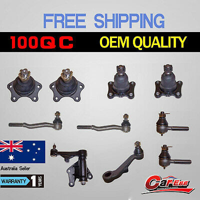 10 Ball Joints + Tie Rod Ends Idler Pitman Arm Toyota Hilux IFS 4WD Hilux 89-05