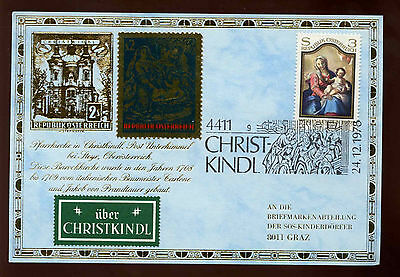 Austria 1978 Christmas Philatelic Card #C12236