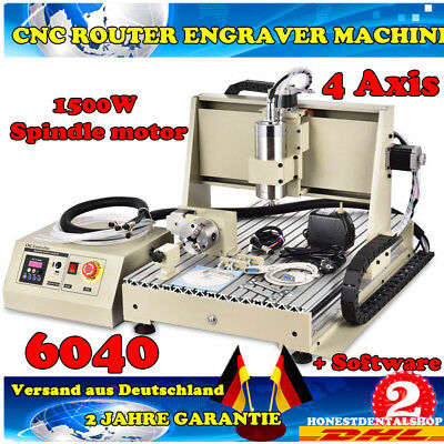 4 Axis CNC ROUTER Router Engraver 6040T 3D Drilling Milling Printer 1.5KW VFD
