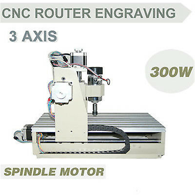 3 Axis CNC Router Engraver Milling Drilling Engraving Machine 3020T + Mach3 USA