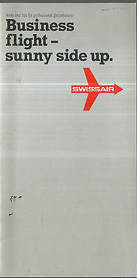 Brochure about Swissair Business Class Airlines