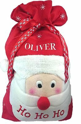 Large Embroidered Personalised Christmas Santa Sack Xmas Gift Stocking 73 x 51cm