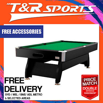 New! 7Ft Green 1-Piece Slate Pool/snooker/billiard Table Free Gift/free Delivery