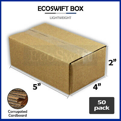 50 5x4x2 Cardboard Packing Mailing Moving Shipping Boxes Corrugated Box Cartons
