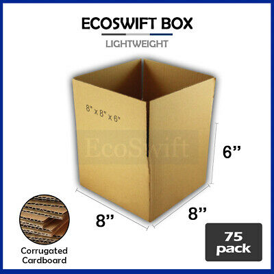 75 8x8x6 Cardboard Packing Mailing Moving Shipping Boxes Corrugated Box Cartons