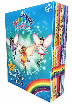 Rainbow Magic Series 2 Weather Fairies Collection 7 Books Box Set (Books 8-14)