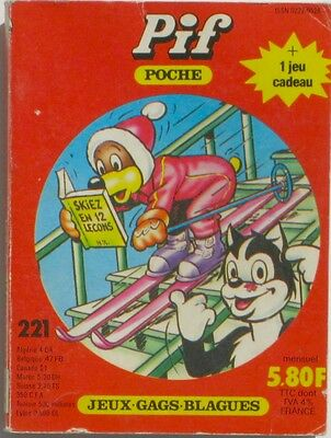 Pif Poche n°221 - 1984 - Jeux  - Gags - Blagues -