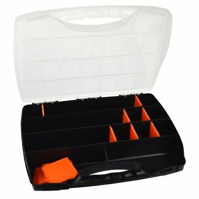 Small Divided Compartment Organiser Work Plastic Case Box Holder Storage CN01