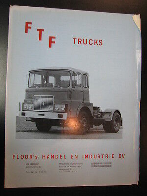 Brochure FTF Trucks (Nederlands)