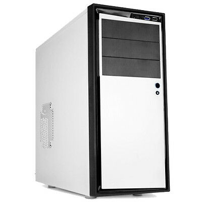 NZXT SOURCE 210 ELITE WHITE USB3.0 TOWER PC GAMING COMPUTER CASE & COOLING FANS