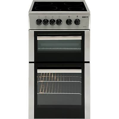 Beko BDC5422AS A 50cm Twin Cavity Cooker with Ceramic Hob in Silver New