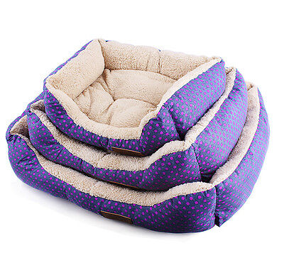 Super Soft Fabric Washable Dog Pet Warm Basket Bed Fleece Lining Free Pillow XY • EUR 1,08