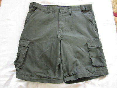 Preowned Boy Scouts of America Green Uniform Shorts Size 34 Waist Marked YOUTH22