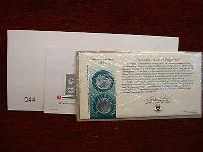 U.S. MINT ISSUE - 2005 P&D WEST VIRGINIA QUARTERS - FIRST DAY COVER - FRESH!!