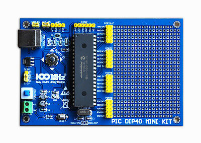 PIC Development Board kit for DIP40 PICs + PIC16F887 microcontrollers Microchip