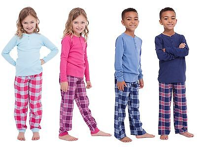 Kids Girls Boys Long Pyjamas 2 Piece Set Pjs Pj's Childrens Size UK 4-13 Years
