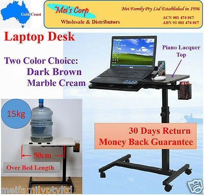 Mobile Desk Laptop Adjustable Notebook Computer iPad PC Stand Table Bed Tray