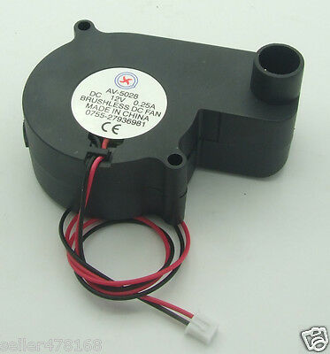 1PCS 2-pin Brushless DC fan Cooling Blower Fan 12V 0.25A 55x55x28mm NO-5028 Fans