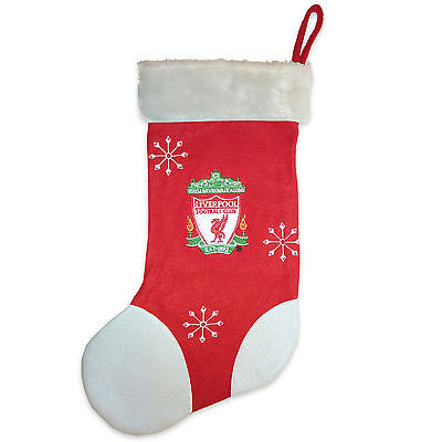 Liverpool FC Official Xmas Gift Christmas Santa Stocking Red