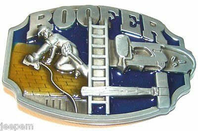 Roofer Roofers Tools Belt Buckle Roofing Trade to fix to own belt New