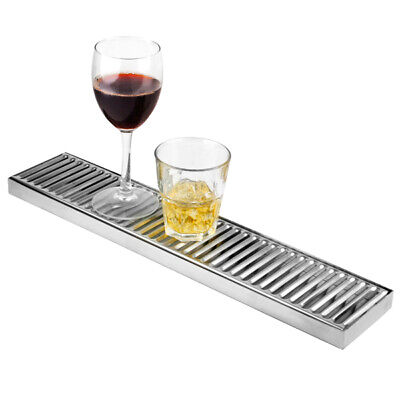 Stainless Steel Long Drip Tray | Back Bar Drip Tray 10cm x 50cm