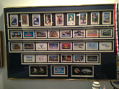 Disney Cruise Wonder Cards-framed, bought at auction on ship, only one sold