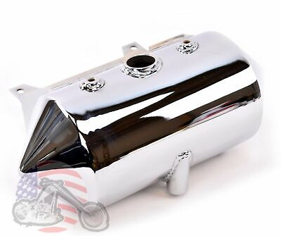 Rocket Round Chrome Oil Tank Bag Battery Box Harley Evolution Softail Chopper