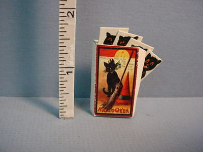 Halloween Prop - Black Cat Posters & Box Handcrafted  Dollhouse Miniature