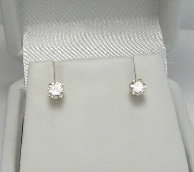 Estate 14k Yg 1 3 Ctw Diamond Stud Earrings 5grams
