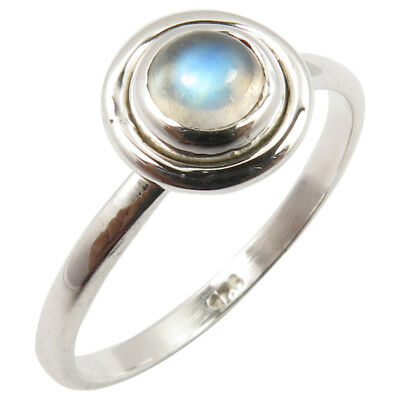 Fine Jewelry 925 Sterling Silver Natural RAINBOW MOONSTONE Gemstone Cute Ring Choose All Size Fine Gemstone Rings
