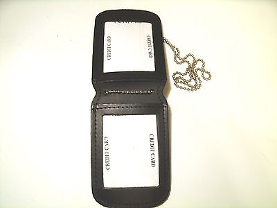 Police Double ID Holder Hospital Security Professional Agent ID Neck or ove Belt