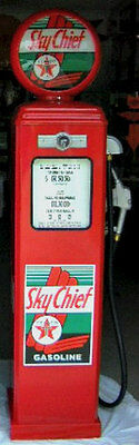 New Texaco Sky Chief Reproduction Replica Gas Pump Red On All 4 Sides Free Ship*